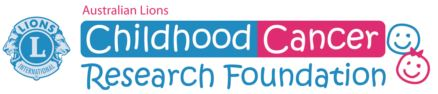 Lions childhood cancer research logo